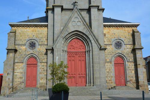 church facade of church architecture
