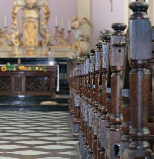 church altar church pews