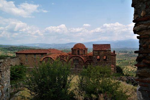 church greece mystras