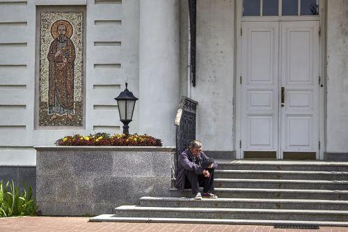 church temple the beggar