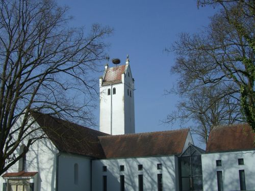 church cemetery church storchennest