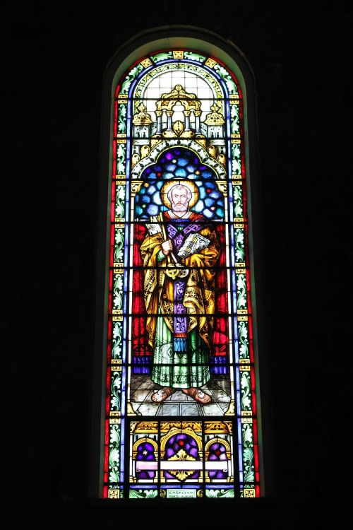 church tile window