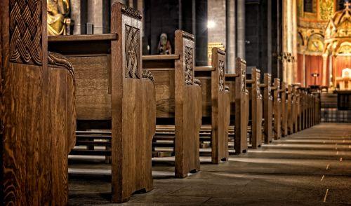 church church pews wood