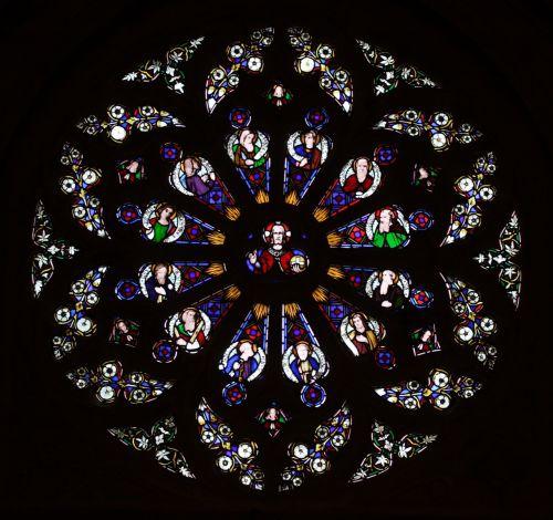 bažnyčia, charlecote, langas, vitražas, geometrinis, apvalus, Warwickshire, be honoraro mokesčio