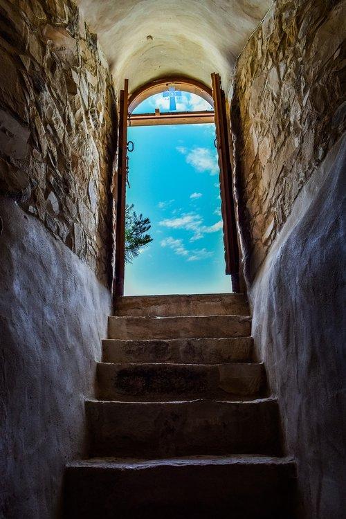 church  stairs  staircase