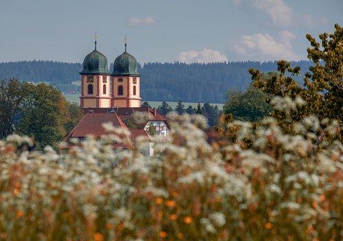 church  church steeples  baroque monastery church
