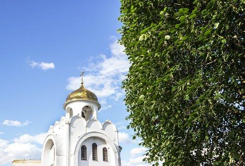 church  sky  tree