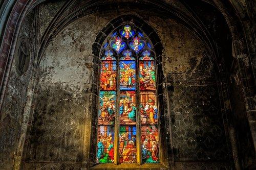 church  window  colorful