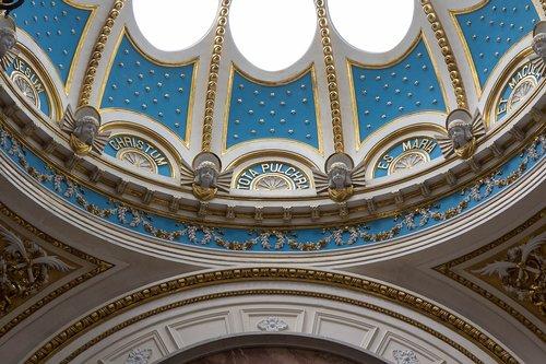 church  light blue  light