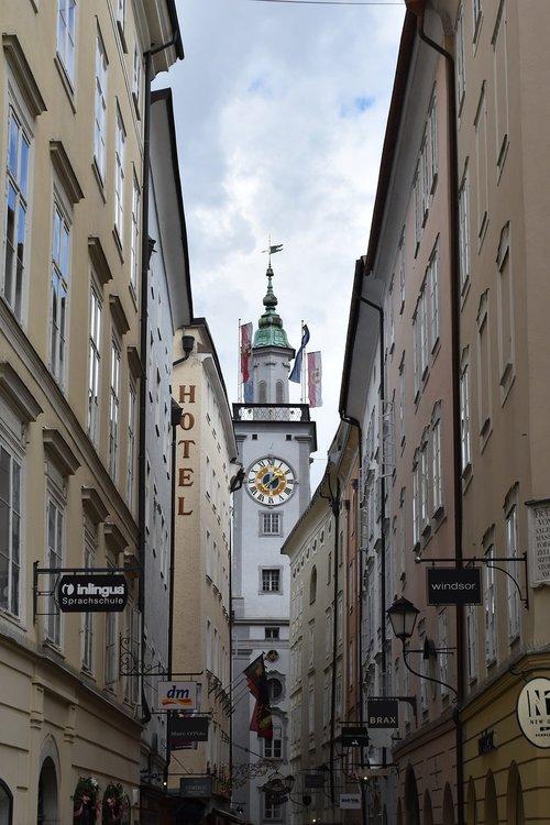 church  clock  spire