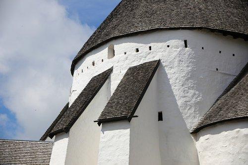 church  round church  bornholm