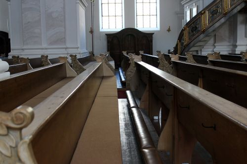 church benches pew