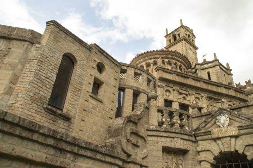church campanile rose window