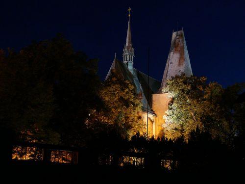 church tower night