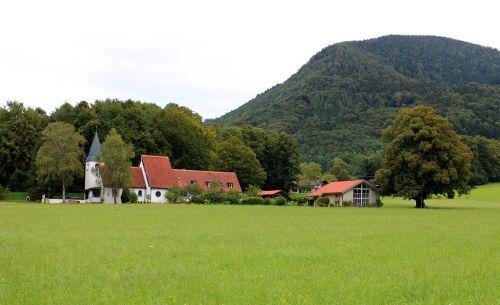 church aschau landscape