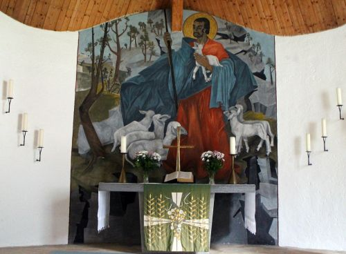 church interior altar
