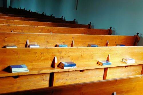church benches wood