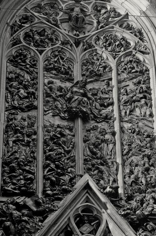 church portal bronze