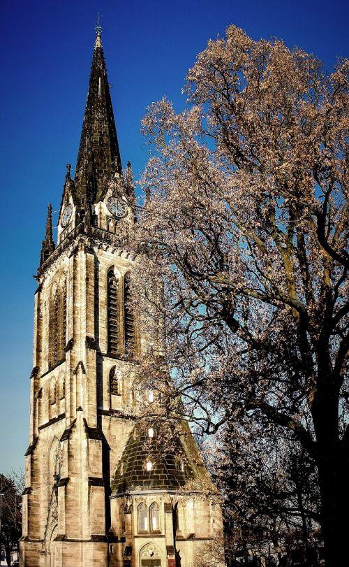 church steeple sky
