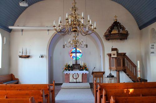 church altar cross