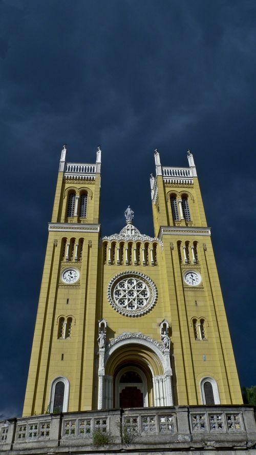 church sky overcast