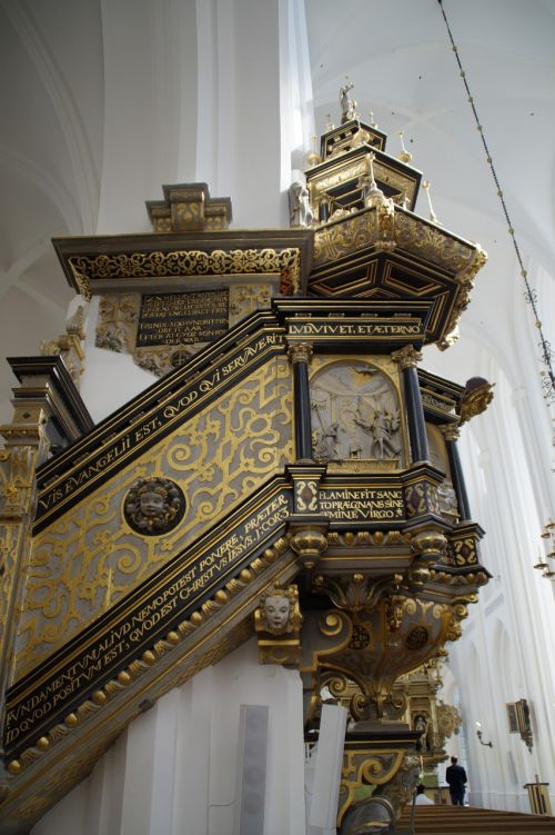 church pulpit perspective