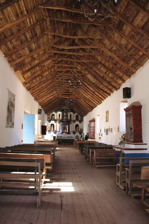 church picturesque northern chile