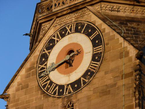church clock clock church