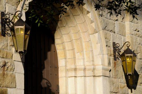 Church Entrance Stone Archway