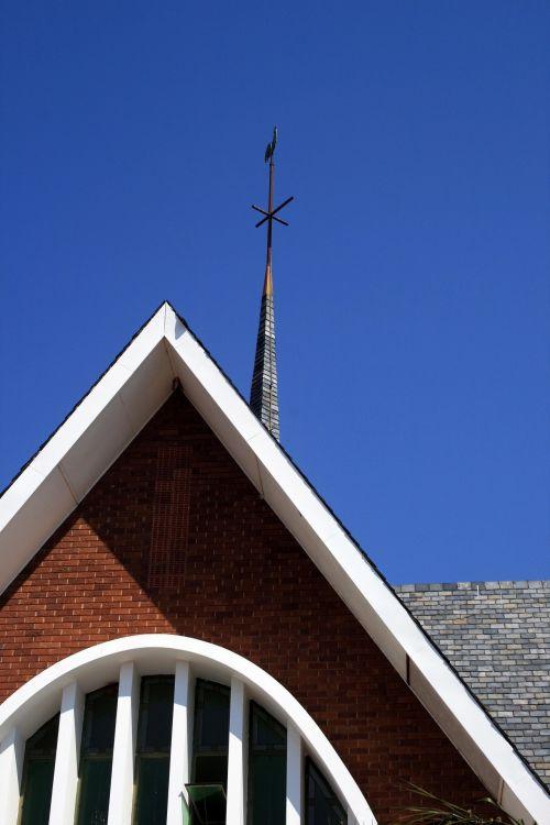 Church Facade And Spire