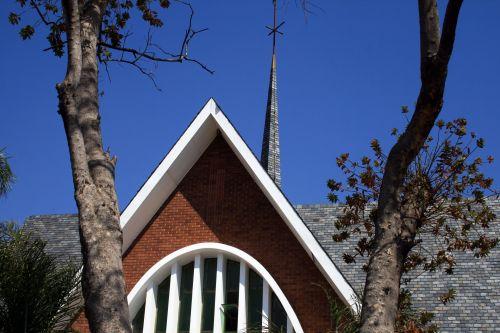 Church Facade With Trees