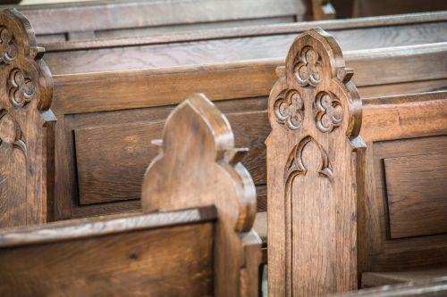 church pews bank church
