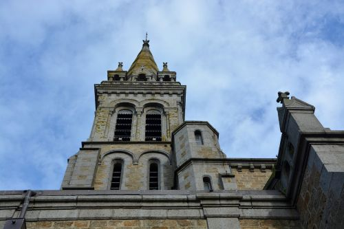 church rochebonne bell tower brittany france