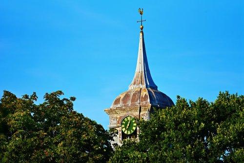 church tower  steeple  spire