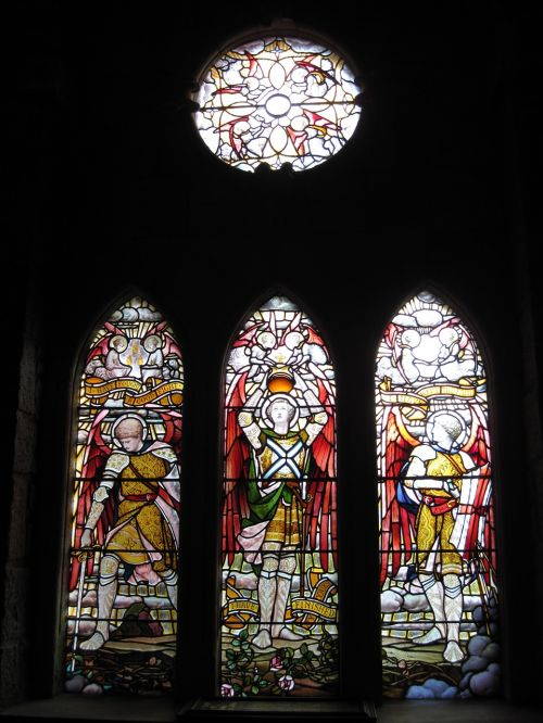 church window stained glass religious