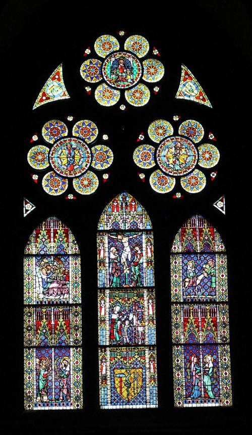 church window freiburg münster