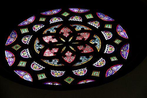 church window rosette glass window