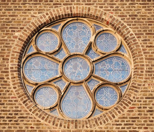 church window  rosette  window