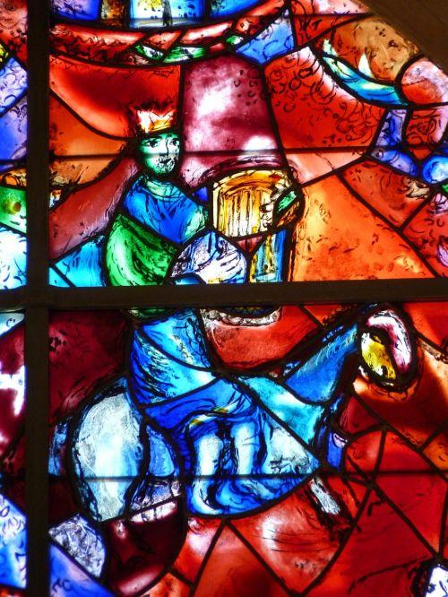 church window marc chagall colorful