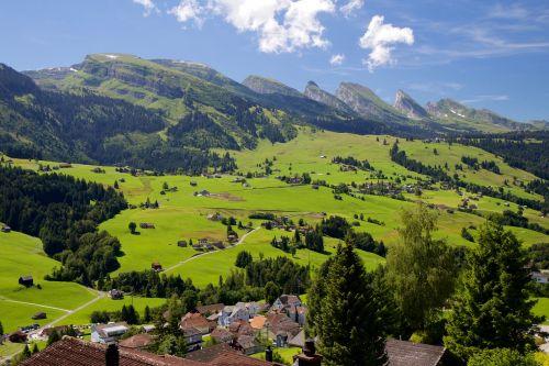 churfirsten mountain group valley