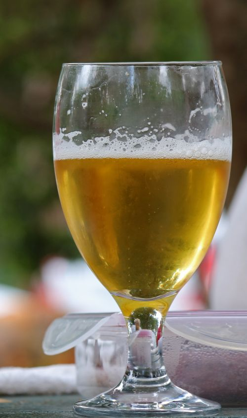 Cider In Clear Glass