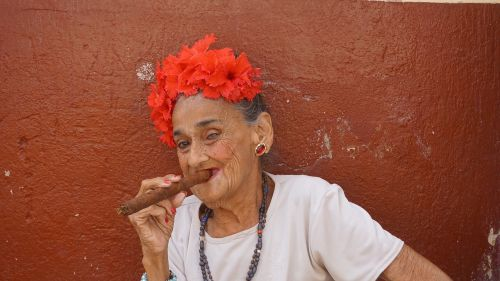 cigar woman old