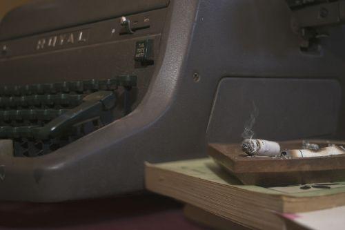 cigar vintage typewriter