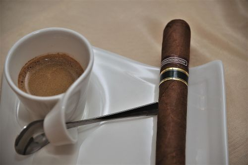 cigar espresso coffee