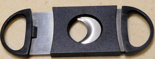 cigar cutter stainless steel blades black plastic casing