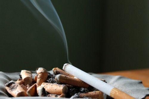 cigarette ashtray ash