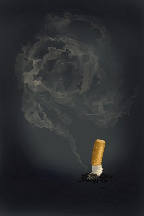 cigarette smoking bad habit
