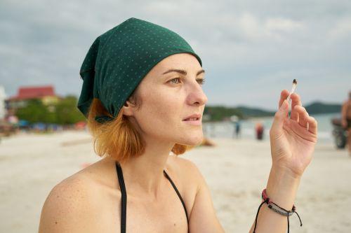 cigarette women's beach