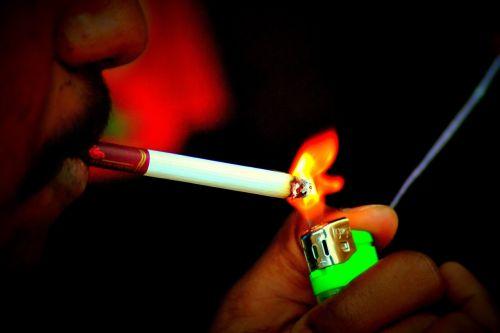 cigarette lighter smoke