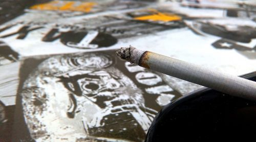 cigarette ashtray smoking